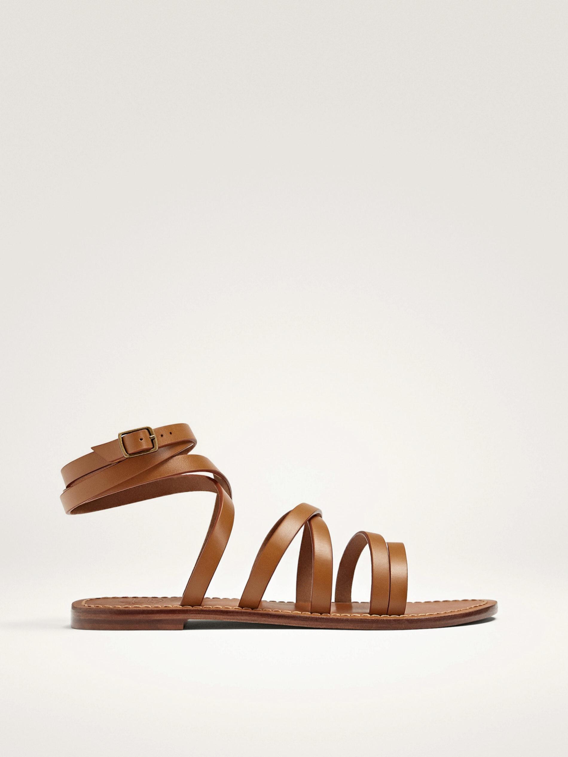 Sandalias de piel de Massimo Dutti