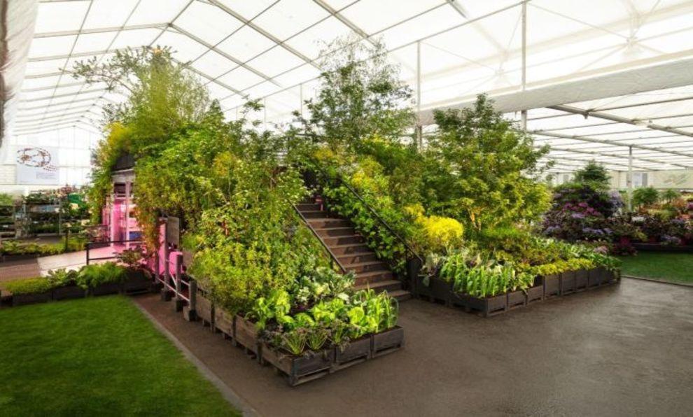Instalación de La Jardinería salvará el mundo
