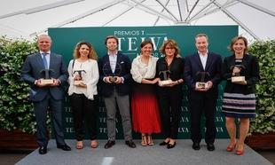 Los premiados: Leopoldo Satrústegui, director general de Hyundai;...
