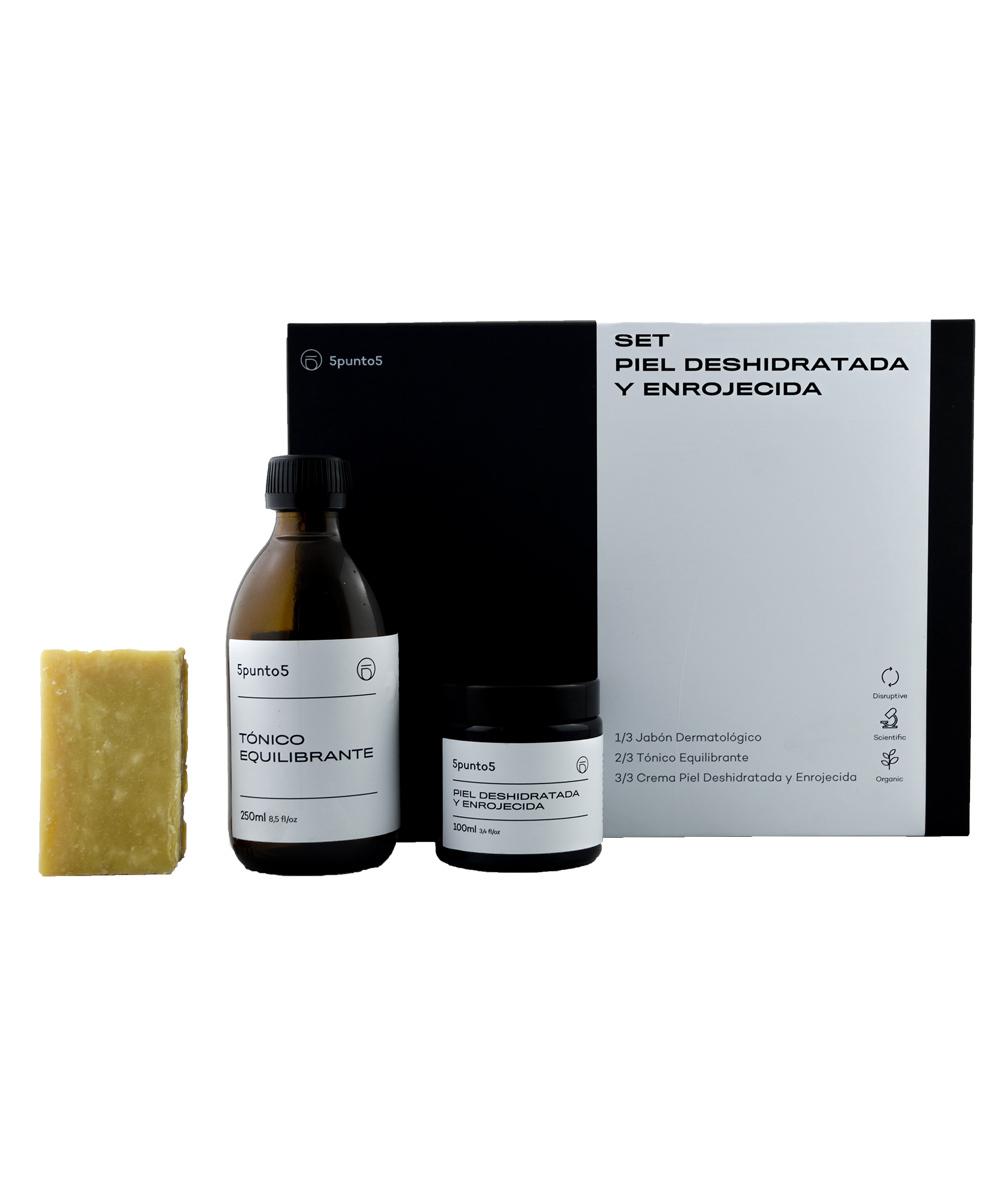 Set Piel Deshidratada y Enrojecida de 5punto5, especial para pieles...