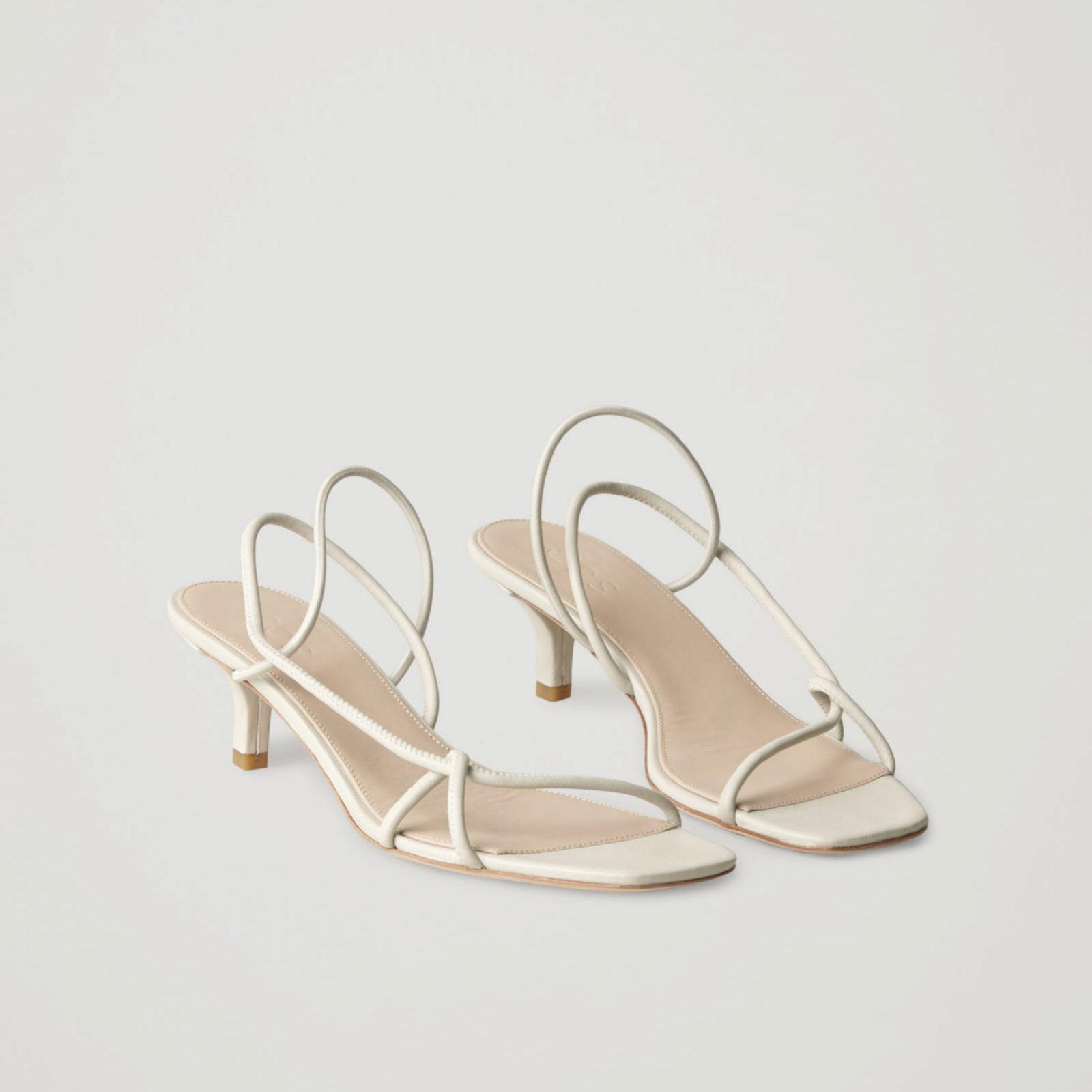 Sandalias de estilo minimal en blanco de COS