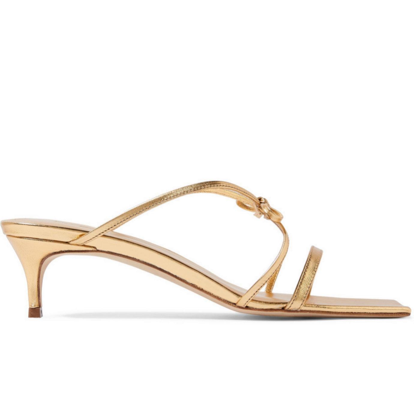 Sandalias de estilo minimal en dorado de By Far para Net a Porter