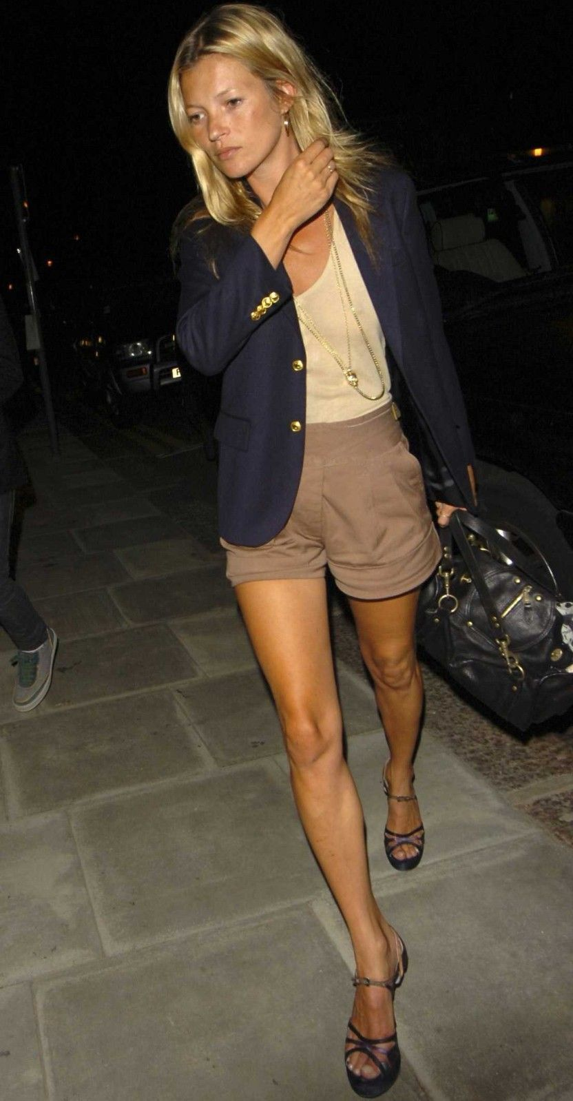 Kate Moss con shorts.
