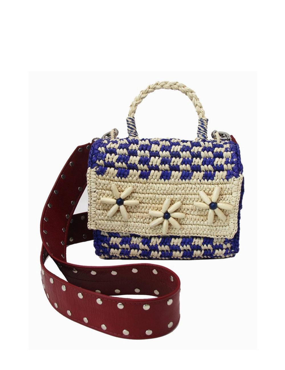 Bolso bandolera con detalles de conchas y rafia de Sensi Studio para Vasquiat (363,60¤)