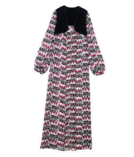 Vestido de estilo boho estampado de Longchamp (c.p.v)