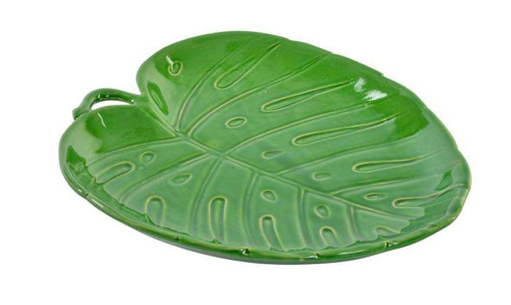 Bandeja de cerámica en forma de hoja