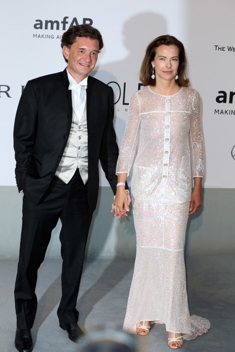 Carole Bouquet en la gala AMFAR 2014
