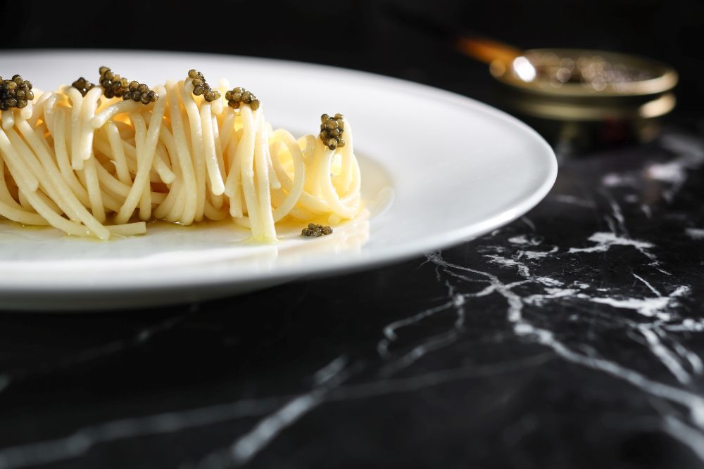 Spaghetti with Osceitra Caviar, The Duchess