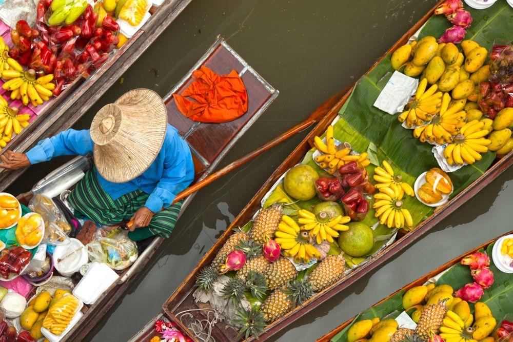 Mercados flotantes en Bangkok