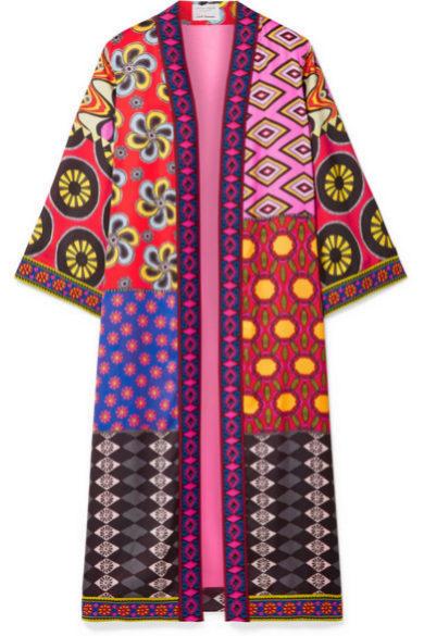 Kimono largo de patchwork de Alice + Olivia (550¤)