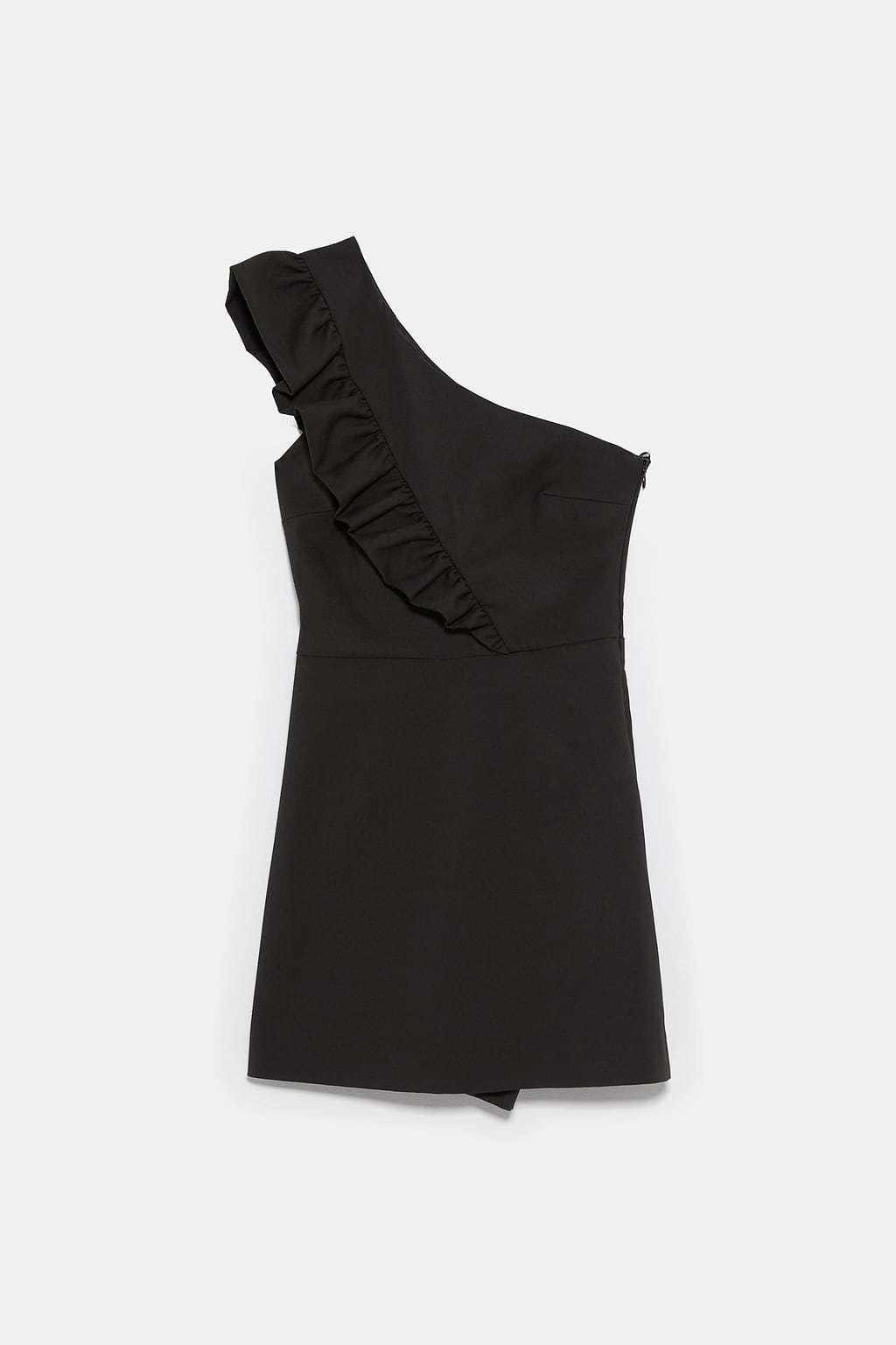 Minivestido de un solo hombro con volante de Zara
