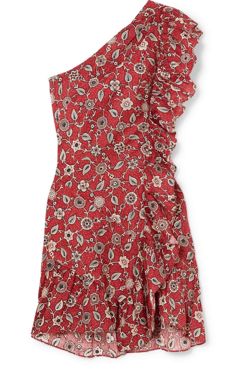 Vestido asimétrico estampado de Isabel Marant Etóile