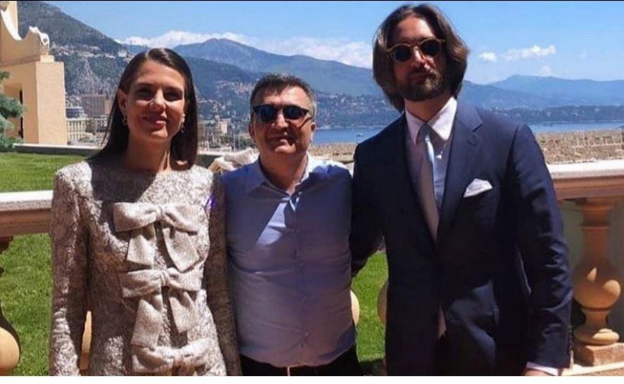 Una de las escasas fotos de la boda de Carlota Casiraghi y Dimitri...