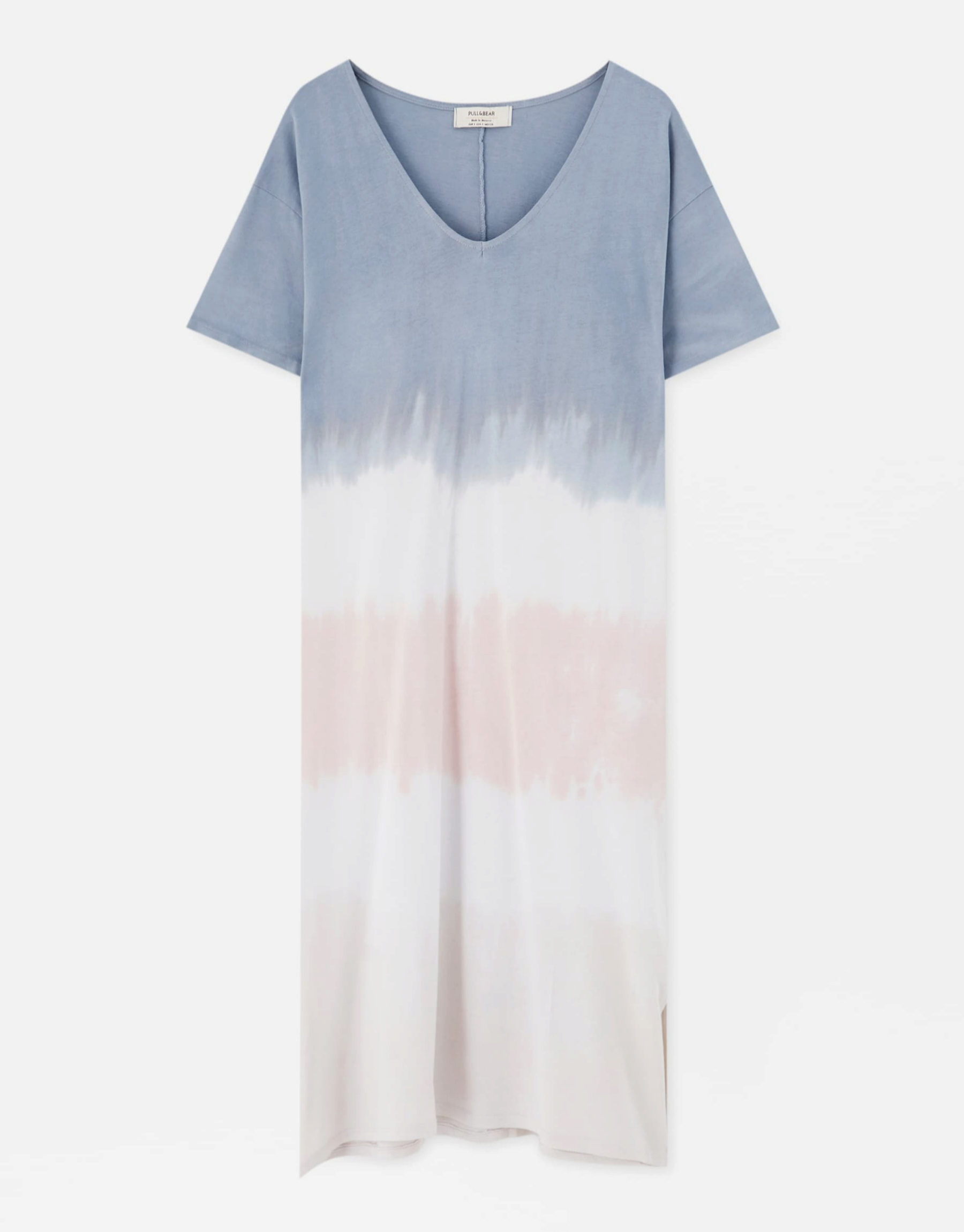 Vestido de algodón con estampado 'tye dye' de Pull & Bear