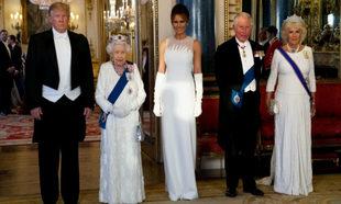 Donald y Melania Trump de cena de gala en Buckingham Palace