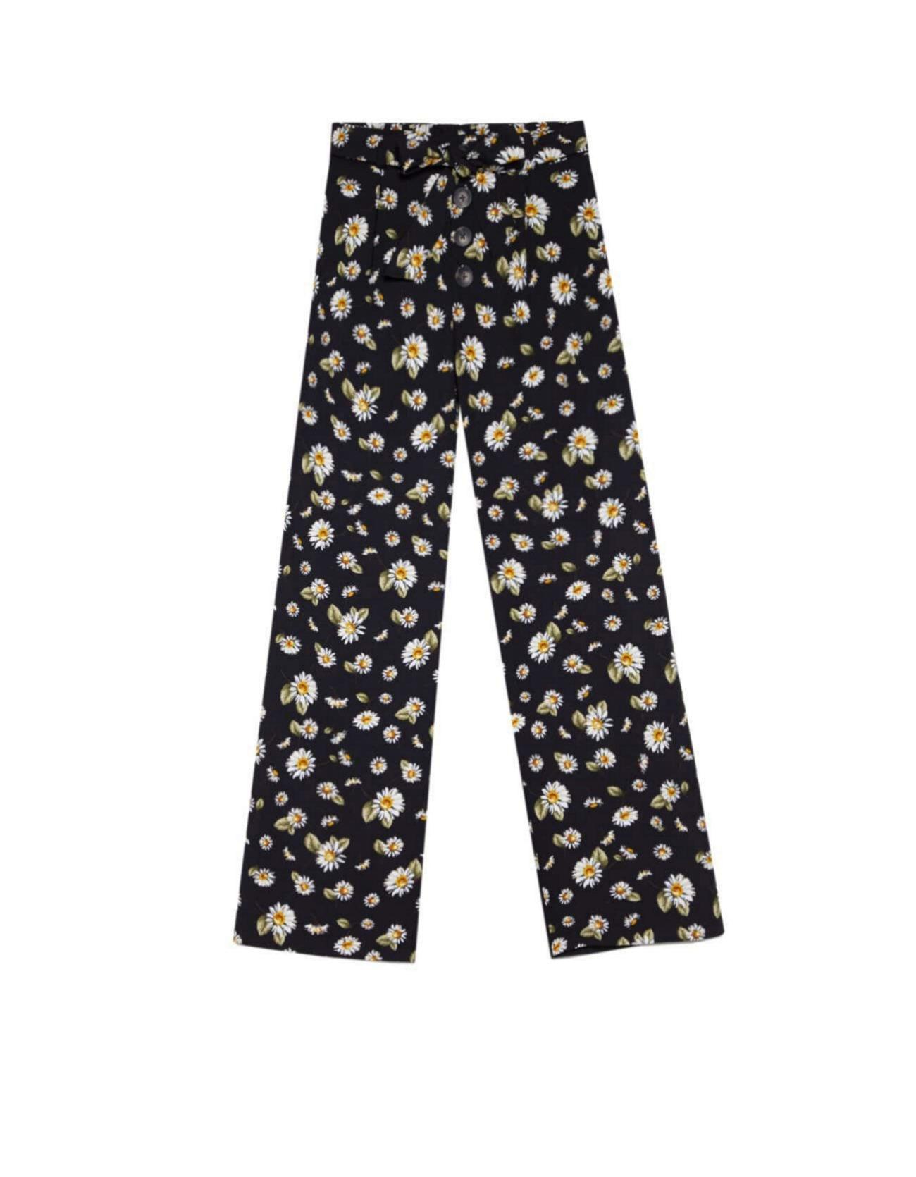 Pantalones anchos de print floral de Stradivarius