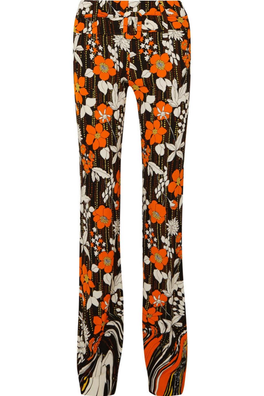 Pantalón de estampado floral de Prada