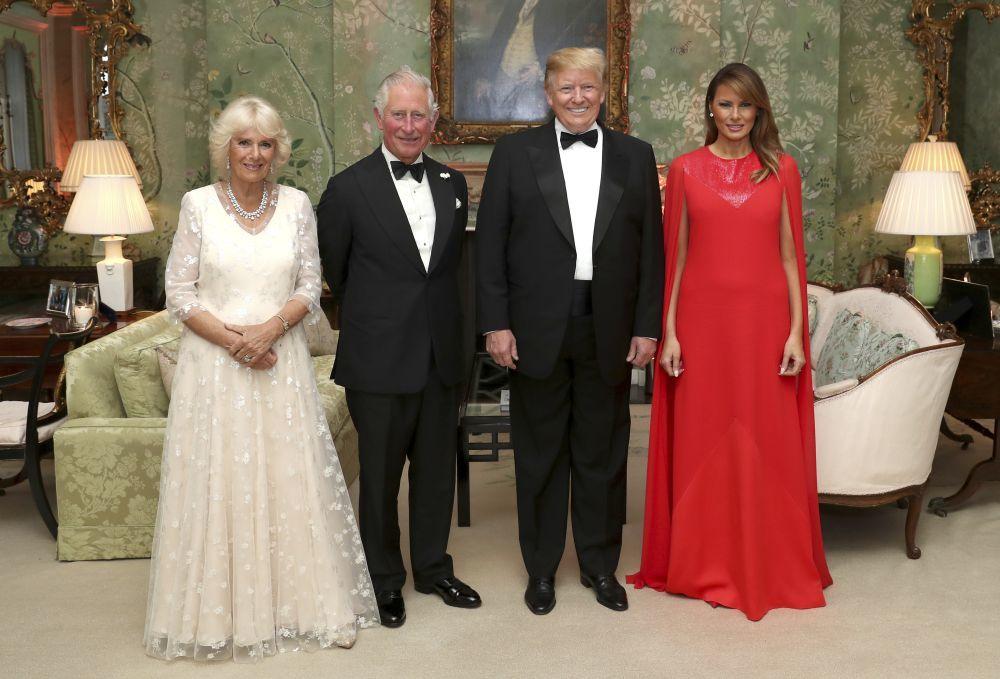 Los Trump de visita en Reino Unido.