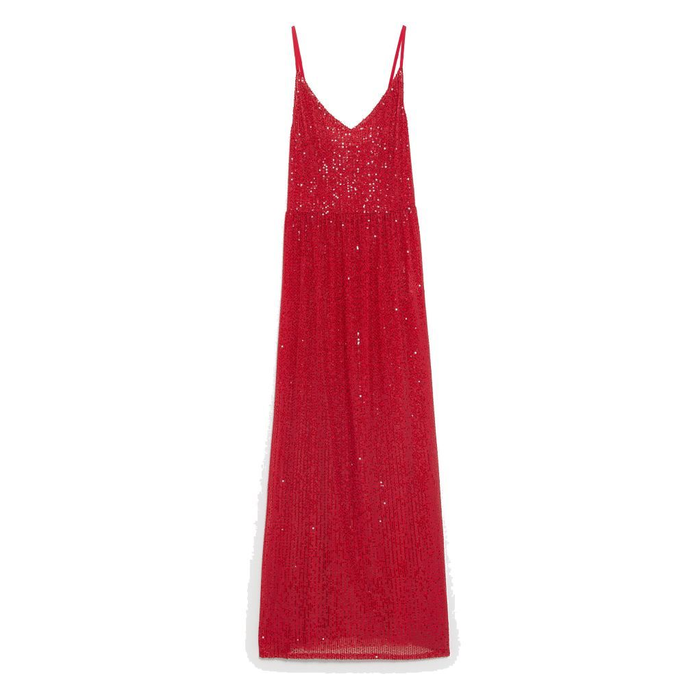 Vestido largo de Zara.