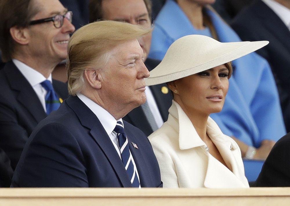 Los Trump en la conmemoración del Día D.