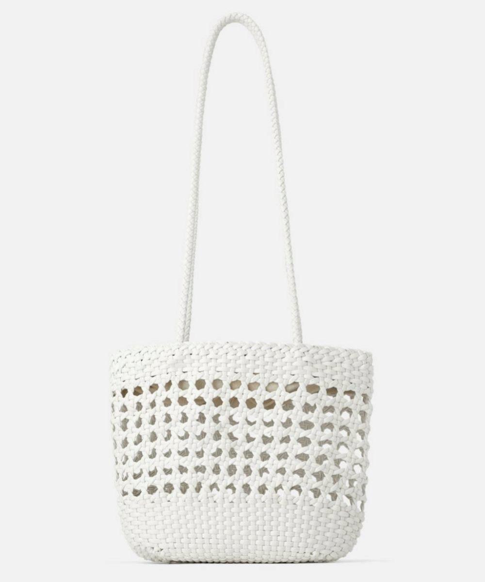 Shopper trenzado de Zara
