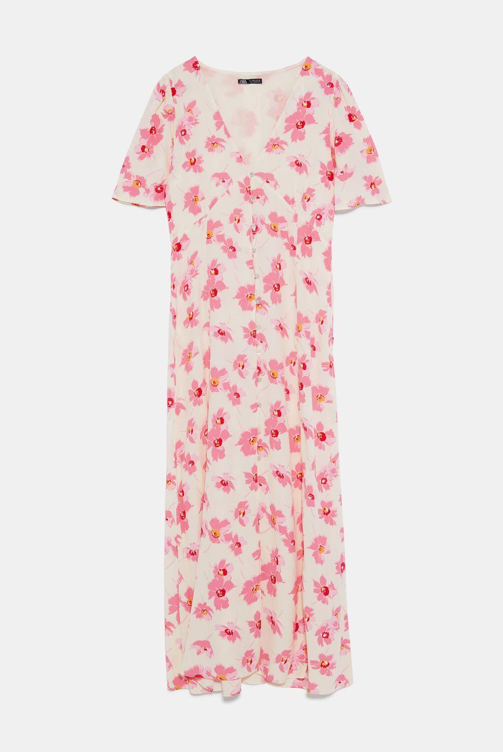 Vestido de flores, de Zara.