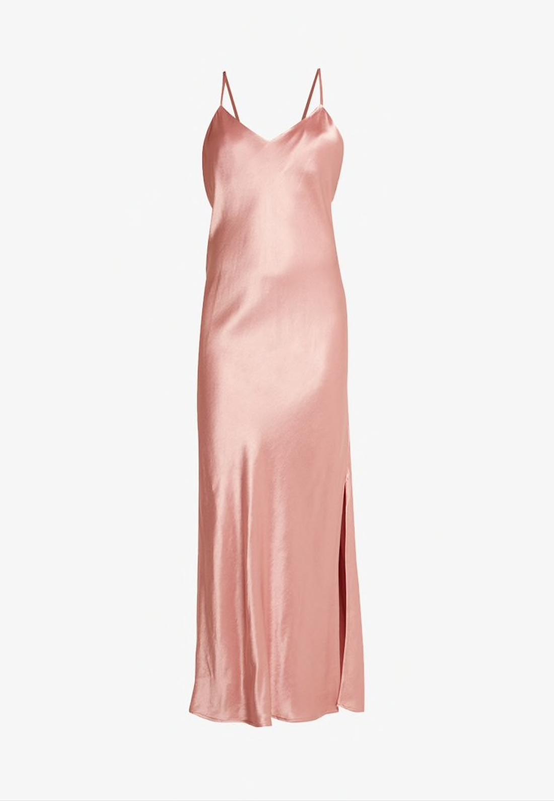 Vestido rosa de raso de Superdry, de venta en Zalando.