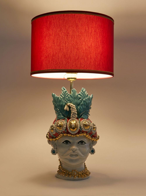Base de lámpara de cerámica de ETRO.