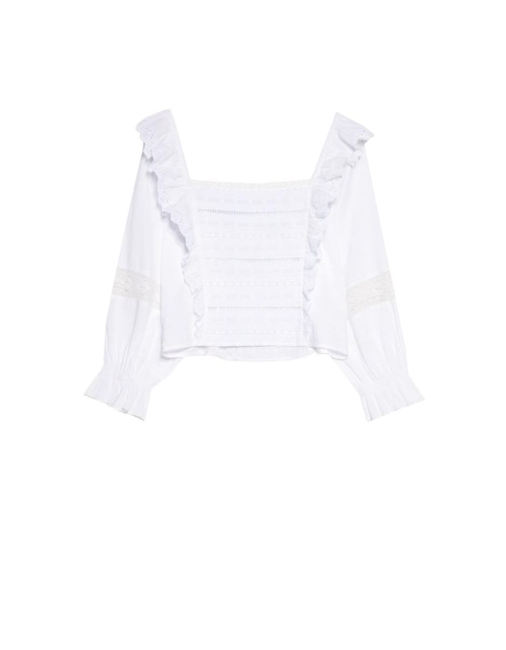 Top blanco de Stradivarius.