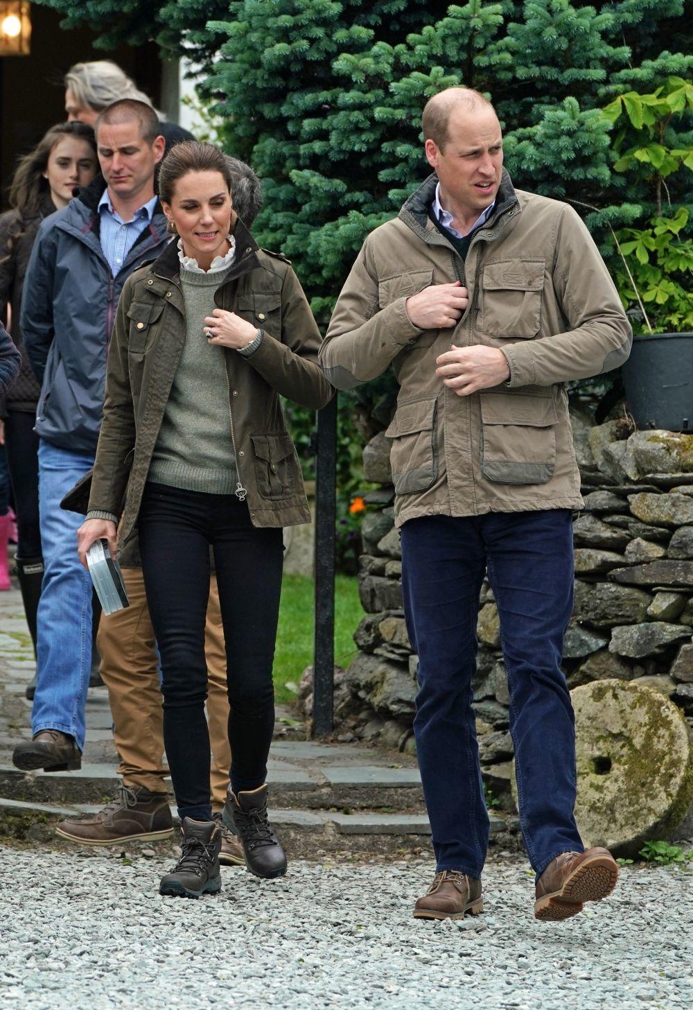 Los Duques de Cambridge durante su visita a Cumbria.