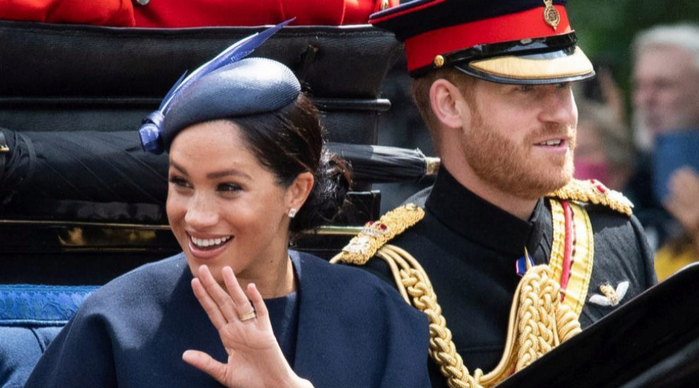 Meghan Markle durante el Trooping the Colour.