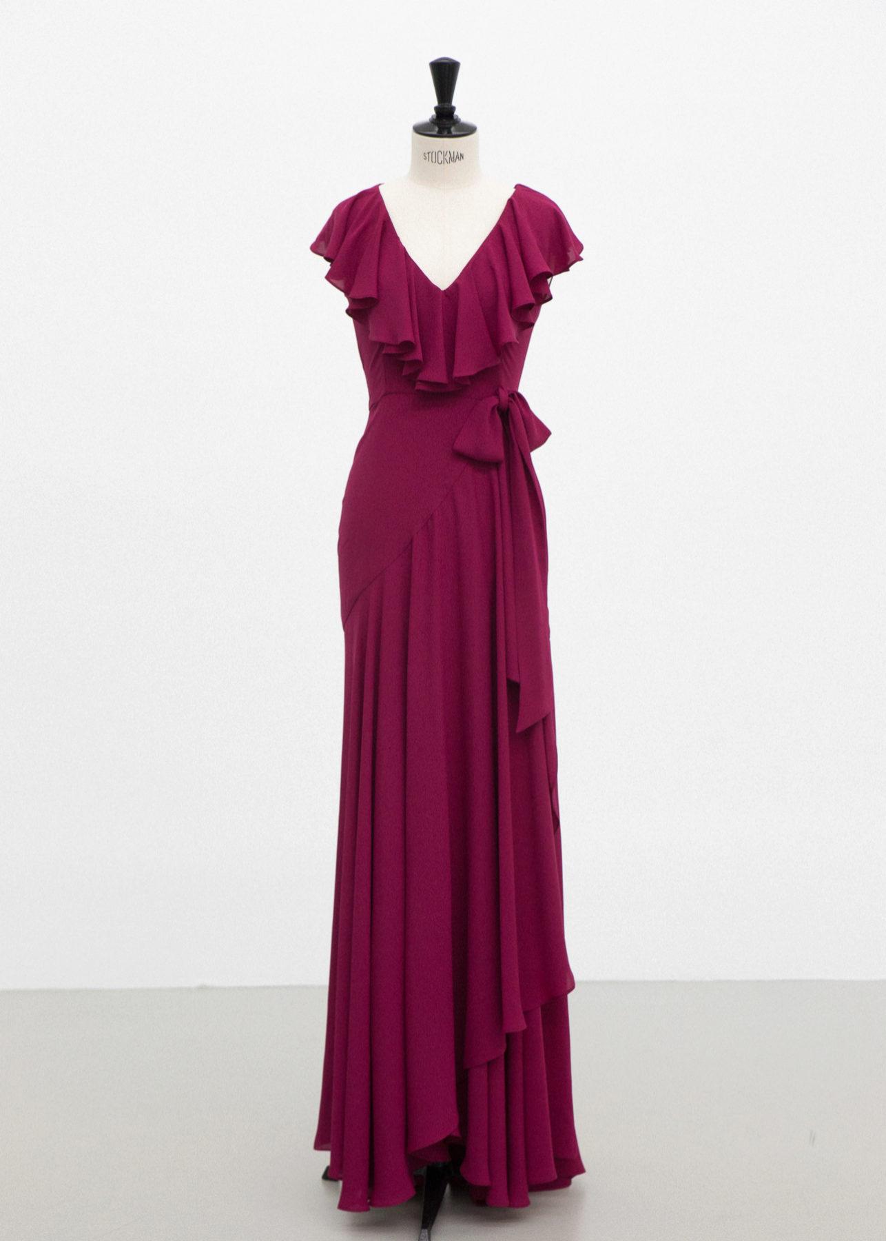 Vestido cruzado en color rosa de ByHandel (300¤)