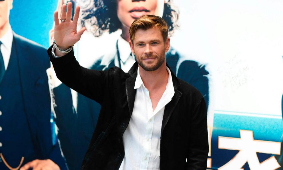 Chris Hemsworth durante la presentación de su última película Men...
