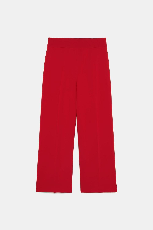 Pantalones culotte de Zara.