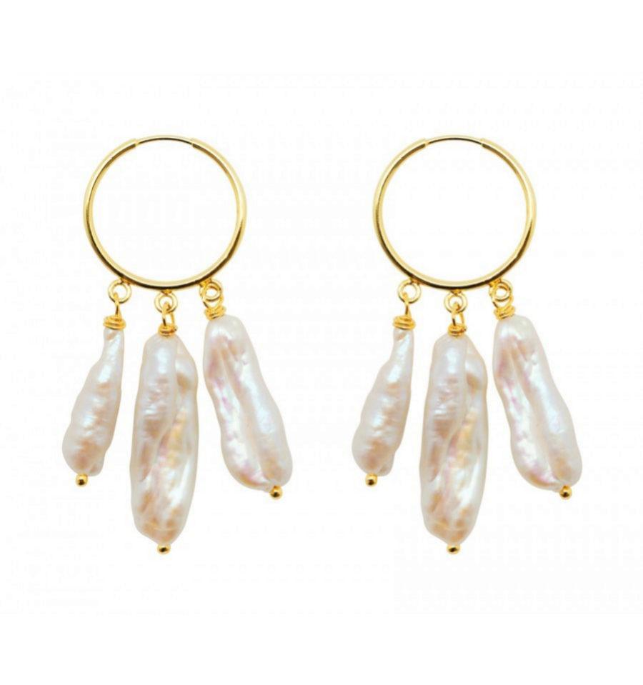 Pendientes de perlas XL de Eleonor de Casanovas