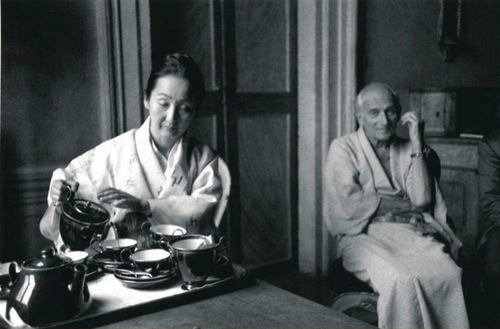 Balthus et sa femme, 1988.