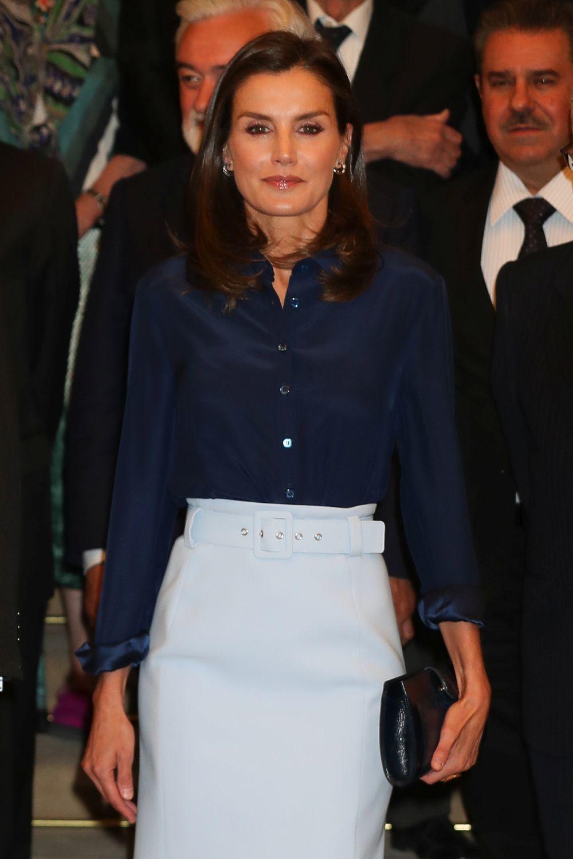 La reina Letizia en el pleno de la Real Academia Española.