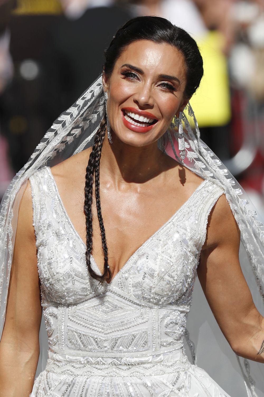 Todos los detalles del vestido de novia de Pilar Rubio.