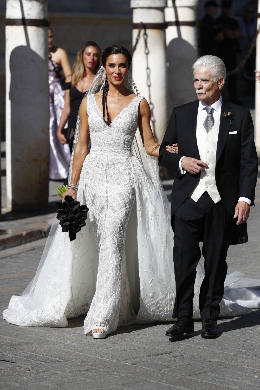 El vestido de novia de Pilar Rubio.