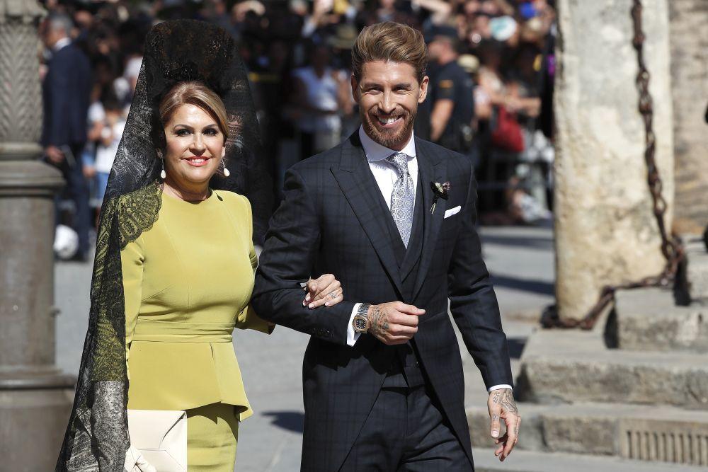 Sergio Ramos con su madre.