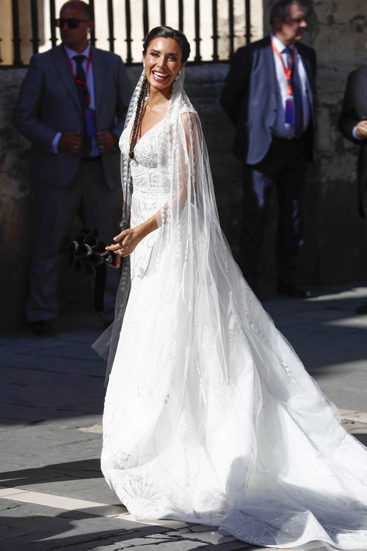 El espectacular vestido de novia de Pilar Rubio.