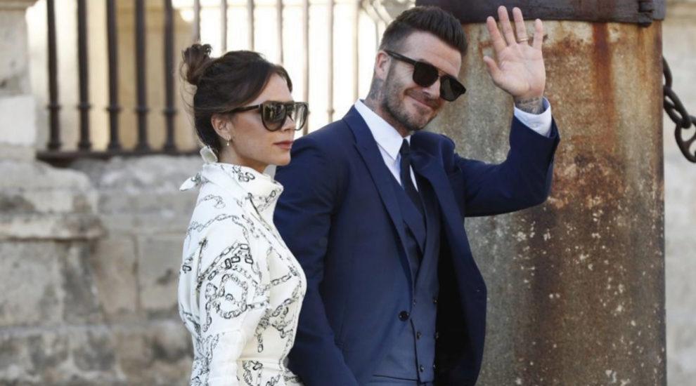 David y Victoria Beckham  llegando a la boda de Pilar Rubio y Sergio...