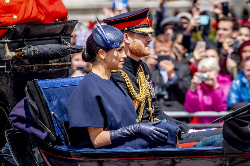 Los Duques de Sussex en el Trooping the Colour.
