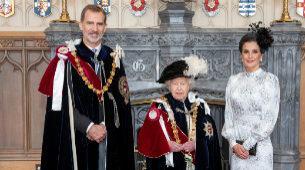 El rey Felipe VI recibe la Orden de la Jarretera.