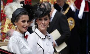 El día que la reina Letizia y Kate Middleton coordinaron sus looks