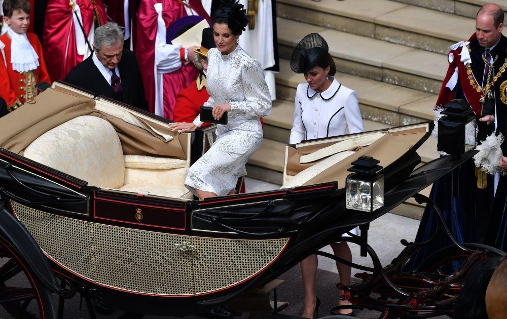La reina Letizia y Kate Middleton comparten carruaje.