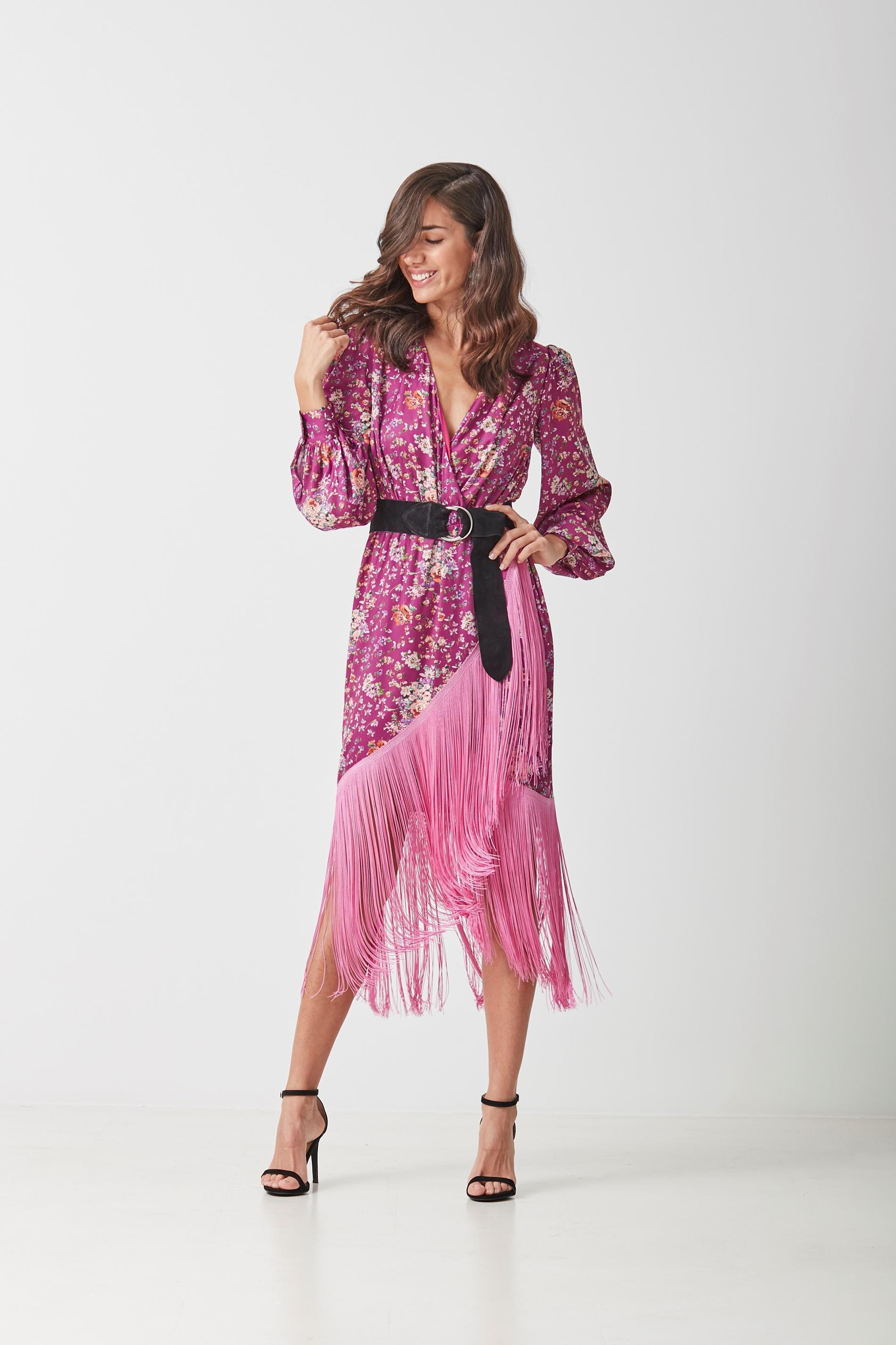 Vestido de flecos, de Coosy (180 euros).