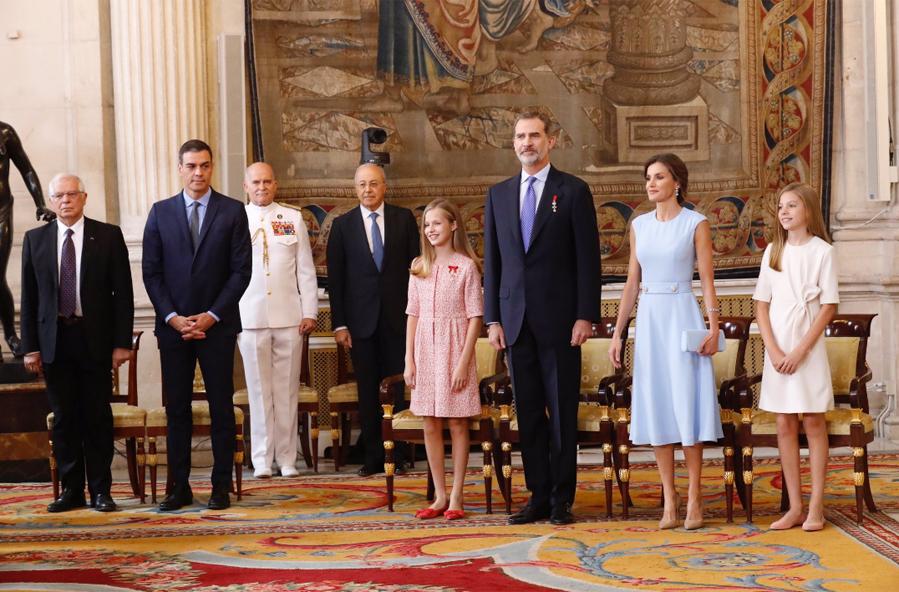 Los reyes de España, la princesa de Asturias y la infanta Sofía