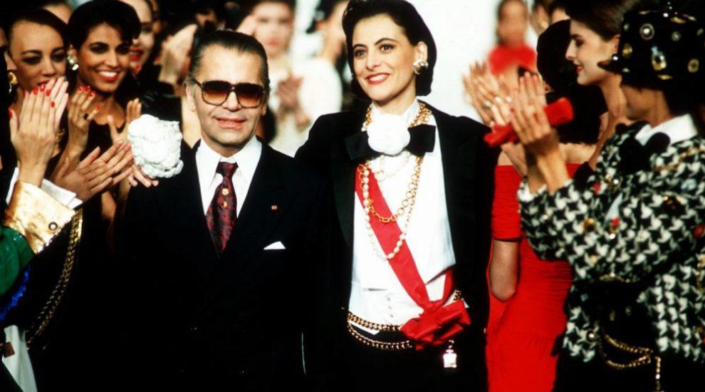 Karl Lagerfeld con su musa, Ines de la Fressange (quien ayer estaba en...