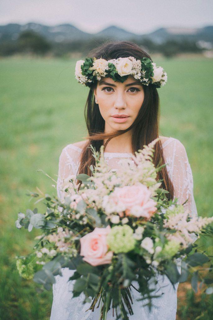 Corona de flores de Hip & Love.